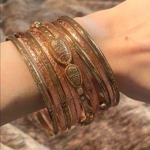 NWOT set of 10 bangle bracelets